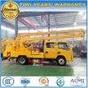 Carro de trabajo de arriba de la casilla doble de Dongfeng 4*2 para la venta