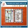 Projetar cartões transparentes do PVC