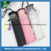 Paraguas impreso compacto de la tarjeta del cordón del doblez del aluminio 5 pequeño