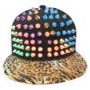 Gorras de béisbol calientes del Snapback de la venta con el cuero artificial SD02