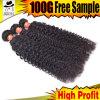 Cutícula cheia do cabelo brasileiro, cabelo 100%Virgin