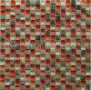 Tegel van het Mozaïek van de Steen van het Glas van het KUUROORD en van de Badkamers de Rode Decoratieve