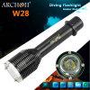 CREE XM-L T6 (Max 1000 lúmenes) LED W28 de buceo Linterna Linterna de buceo