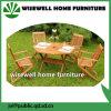 5部分の純木の庭の家具