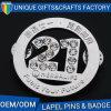 Insigne estampé par logo fait sur commande en alliage de zinc d'insigne en métal