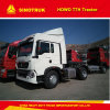 HOWO T5g 12の速度マニュアル6の荷車引きのトラクターのトラック
