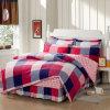 Jogo 100% do fundamento da alta qualidade do algodão de matéria têxtil para o fundamento da tampa do Duvet do Comforter do repouso/hotel ajustado (quadrados coloridos)