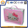 Caixa de armazenamento de alumínio do caso do caso bonito da beleza da vaquinha do olá! para a menina (HB-6352)