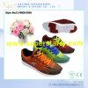O ar superior do engranzamento da forma caçoa sapatas dos esportes, sapata com cordões do esporte da criança