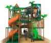 O tema da selva playground coberto o equipamento de fitness