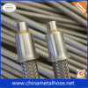 304 tressée flexible en acier inoxydable de haute pression tuyau de métal
