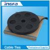 Correa de cable revestida del acero inoxidable del PVC para las bandas fijadas
