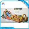 スライドを持つ子供の楽しみ都市警備員のための膨脹可能な跳ねる城