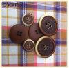 4holes Reddish Brown Polyester Button con Fashion Logo