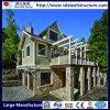 La casa prefabricada de acero de la nueva luz del diseño contiene el chalet
