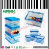 Escaninho de dobramento da caixa do armazenamento Stackable do espaço livre da caixa plástica