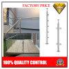 Pilar de la escalera del acero inoxidable o del vidrio del balcón