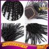 Chiusura sintetica della parte superiore dei capelli della chiusura del merletto dell'arricciatura di Afro