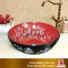 Projeto cerâmico de Ceram da arte da bacia de lavagem da boa arte preta chinesa da cor