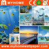 Peinture murale personnalisée de mur, papier de mur normal de photo de paysage