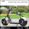 2000W 60V 20AH City Coco Motociclo eléctrico com grande roda LED