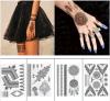 Etiqueta provisória preta sexy elegante do tatuagem da arte da etiqueta do tatuagem