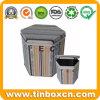 مسدّس قهوة قصدير صندوق لأنّ طعام تخزين, قهوة قصدير وعاء صندوق