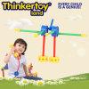 Brinquedo plástico da instrução de DIY para blocos de apartamentos dos miúdos