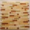 Color mezclado Natural Stone Marble Mosaic Wall Tile para Background