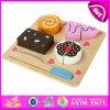 2015 Wooden poco costoso Cake Cutting Toy per Kid, Preschool Cutting Cake Toy per Children, DIY Play Wooden Cake Cutting Game Toy W10b124