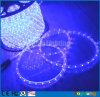 Cuerda al aire libre azul de 2 alambres LED que enciende tira redonda del 1/2