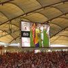 Parete dell'interno della visualizzazione di LED di P10 SMD video per lo stadio, RGB LED che fa pubblicità al tabellone
