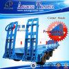 Aanhangwagen van de Vrachtwagen van de tri-as Lowbed/Lowboy de Semi met ZijStaaf