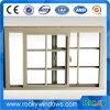 Conception étanche Grill Sash fenêtre coulissante en aluminium