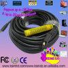 壁の分割払込金、Cl2のための30m /100ftまでの高速黒い色長いHDMIのケーブル1.4V 2k*4kはサポート3D及びイーサネットを評価した