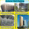 Revestimiento exterior de la pared del acero inoxidable
