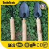 子供の園芸工具は丈夫な木のハンドルが付いている金属から成っていてセットした