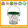 Stagno trasparente personalizzato della benna del metallo del PVC per l'imballaggio per alimenti dei biscotti