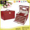 Kundenspezifische handgemachte Form-eleganter Schmucksache-Kasten mit Fach vier (8218)