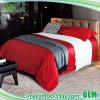 Fundamento 100% personalizado de luxe do vermelho do algodão do quarto