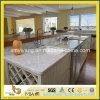 Controsoffitti di marmo bianchi prefabbricati della cucina di Carrara