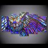[هد] طبع بومة أسلوب 5 قطعات مجموعة [بينتينغ كنفس] [برينت رووم] زخرفة طبعة ملصقة صورة نوع خيش [مك-064]