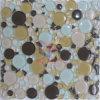 Ronda y de forma irregular Mixd mosaico de cristal templado (CFC313)