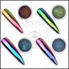 Pigmento super perfeito Shinning do cromo dos Sequins da arte do prego dos Glitters DIY do prego da poeira do pó do espelho do unicórnio mágico