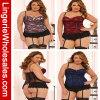 Tres colores más la ropa interior atractiva de la ropa interior del cordón de las mujeres de la talla