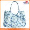 Nouvelle conception de la série de fleurs Vintage sac de plage avec fleur Imprimer