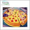 Flotador inflable de la piscina de la pizza del regalo promocional para la piscina