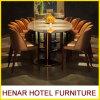 Insiemi della Tabella pranzante della mobilia di qualità superiore e presidenze di marmo di banchetto per il ristorante