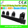диско Light СИД Moving Head 4X10W 4heads Beam Bar