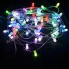 Luzes ao ar livre da corda do grampo do diodo emissor de luz do RGB 12V das decorações da árvore de Natal
